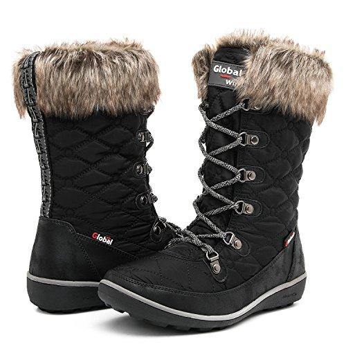GLOBALWIN Women's Winter Waterproof Snow Boots