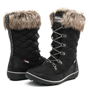 GLOBALWIN Women's Winter Waterproof Snow Boots