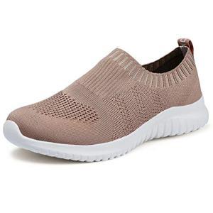 konhill Women's Walking Tennis Shoes - Lightweight Athletic Casual Gym Slip