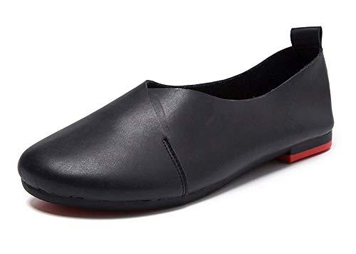 Kunsto Women's Genuine Leather Comfort Glove Shoes Ballet Flat