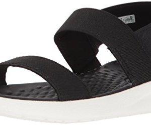 Crocs Women's LiteRide Sandal Sport, black/white