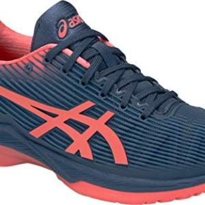 ASICS Solution Speed FF Women's Tennis Shoe, Grand Shark/Papaya