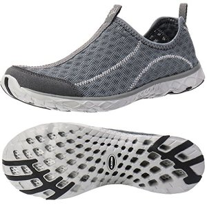 ALEADER Women's Slip On Aqua Water Shoe Dark Grey