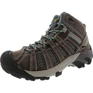 KEEN Women's Voyageur Mid Hiking Shoe, Gargoyle/Mineral Blue