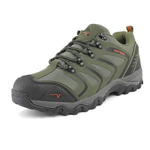 NORTIV Men's low Army Green Black Orange Low Top Waterproof