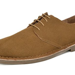 Bruno Marc Men's Tan Oxford Shoes Suede Leather Dress Shoes Francisco-Low - 13 M US