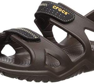 Crocs Men's Swiftwater River Sandal Sport, Espresso/Black