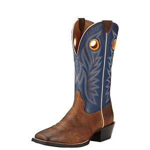 Ariat Men's Sport Outrider Western Cowboy Boot, Pinecone/Federal Blue, 12 D US