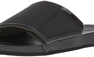REEF Men's Cushion Bounce Slide Sandal, Black