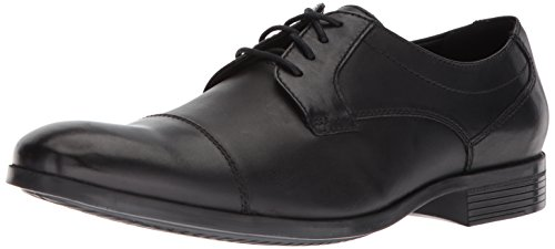 CLARKS Men's Conwell Cap Oxford, Black Leather