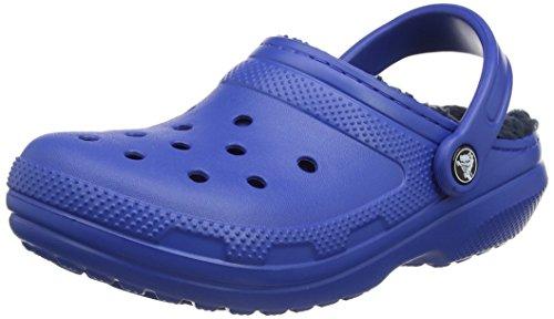 Crocs Classic Lined Clog Mule, Blue Jean/Navy