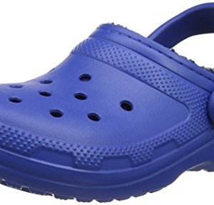 Crocs Classic Lined Clog Mule, Blue Jean/Navy