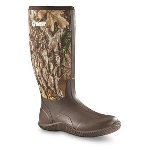 Guide Gear Men's High Camo Bogger Rubber Boots, Realtree Edge