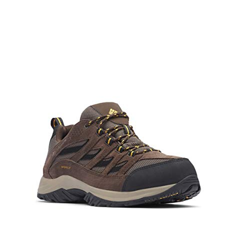 Columbia Men's Crestwood Waterproof Hiking Boot, Mud, Squash