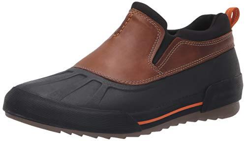 CLARKS Men's Bowman Free Rain Shoe, Dark tan Leather