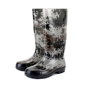 Kontai Man Knee High Rubber Rainboots Camo Waterproof Rubber Boots