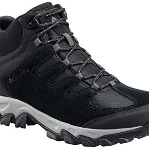 Columbia Men's Buxton Peak MID Waterproof Hiking Boot, Black, lux, 12 Regular US