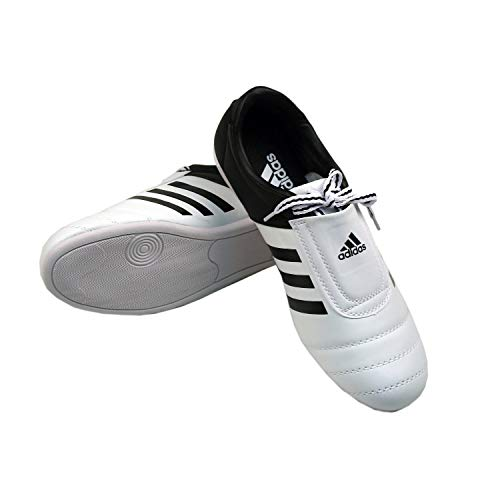adidas Kick Shoes Martial Arts Sneaker White with Black Stripes