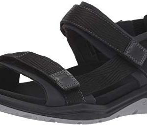 ECCO Men's X-Trinsic Sandal Black Textile