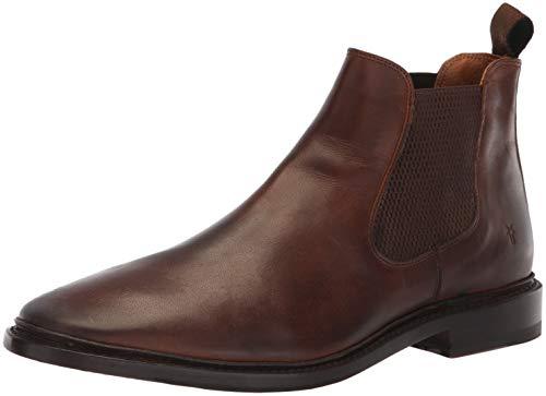 FRYE Men's Paul Chelsea Boot, Dark Brown