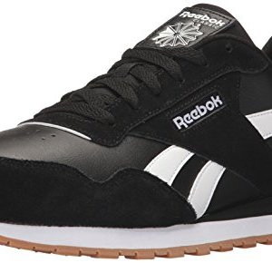 Reebok Men's Classic Harman Run Sneaker, Black/White/Gum