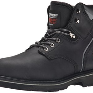 "Timberland PRO Men's Pitboss 6"" Steel-Toe Boot, Black"