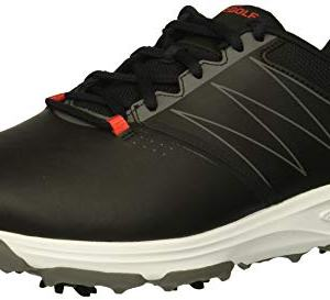 Skechers Men's Torque Waterproof Golf Shoe, Black/red