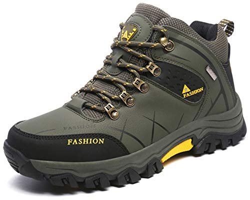 TSIODFO Men Waterproof Hiking Boots Ankle Comfort Autumn Winter Outdoor