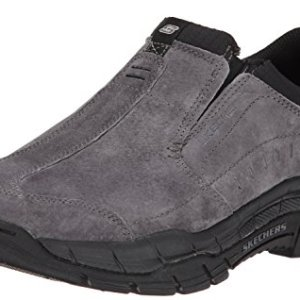 Skechers Sport Men's Rig Mountain Top Sneaker,Charcoal/Black
