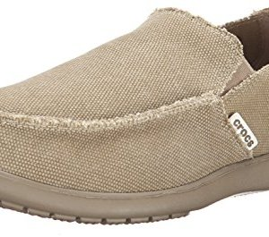 Crocs Men's Santa Cruz Loafer, Khaki, 10 D(M) US