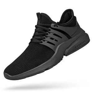 Feetmat Mens Tennis Shoes Ultra Lightweight Non Slip Sport Shoes Slip-On Sneakers for Boys Fashion Shoes Black Running Shoes Black 11M