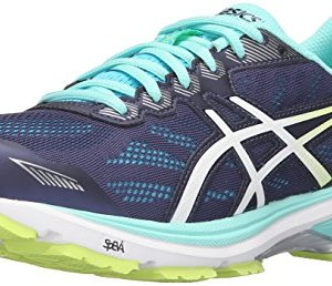 ASICS Women's Running Shoe, Indigo Blue/White/Safety Yellow