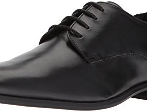 Calvin Klein Men's Lucca Oxford, Black Dress Calf