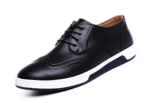 MOHEM Mens Dress Shoes Darren Men's Casual Premium Genuine Leather Lace-up Oxford Shoes(4012BK41)