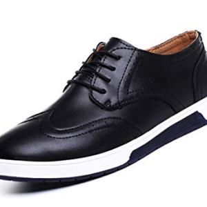 MOHEM Mens Dress Shoes Darren Men's Casual Premium Genuine Leather Lace-up Oxford Shoes(4012BK41)