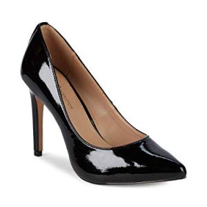 BCBGeneration Women's Heidi Leather Pump, Black Crinkle Patent