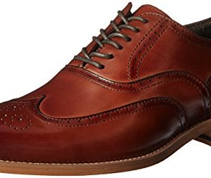 STACY ADAMS Men's Dunbar-Wingtip Oxford, Cognac, 10.5 M US