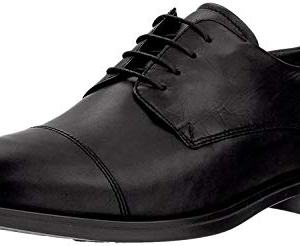 ECCO Men's Melbourne Cap Toe Tie Oxford, Black