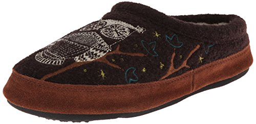 ACORN Women's Forest Mule, Chocolate Owl, Medium