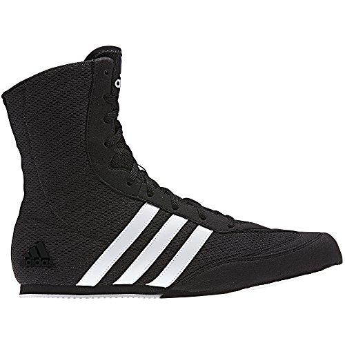adidas Box Hog Mens Boxing Trainer Shoe Boot Black/White