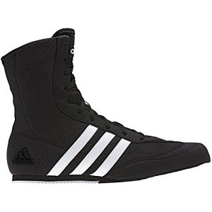 adidas Box Hog Mens Boxing Trainer Shoe Boot Black/White