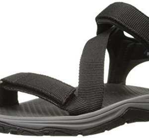 Columbia Men's Wave Train Sandal, black, city grey