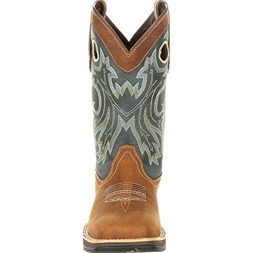 Durango Men's Rebel Pull-On Western Boot Mid Calf Durango Men's Rebel Pull-On Western Boot Mid Calf, Saddlehorn and Clover, 10.5 M US.