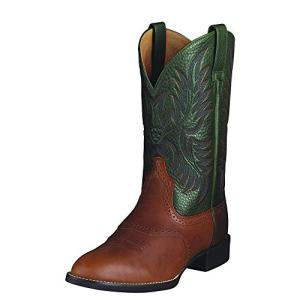 Ariat Men's Heritage Stockman Western Boot, Cedar/Green, 11.5 D US