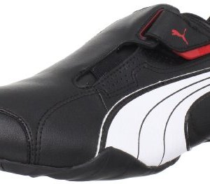 PUMA Men's Redon Move Lace-Up Fashion Sneaker, Black/White/High Risk Red