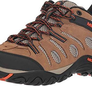Merrell Men's Crosslander Vent Low Otter/Merrell Orange 8 M US
