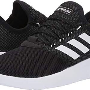 Adidas Men's Lite Racer Reborn Running Shoe, Black/White/Grey, 8.5 M US