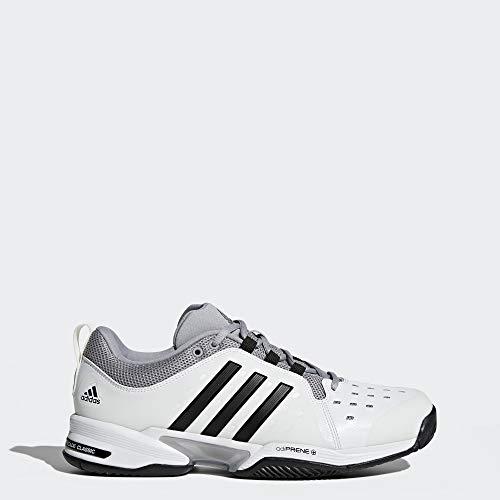 adidas Barricade Classic Wide 4E Tennis Shoe,White/Core Black/Mid Grey