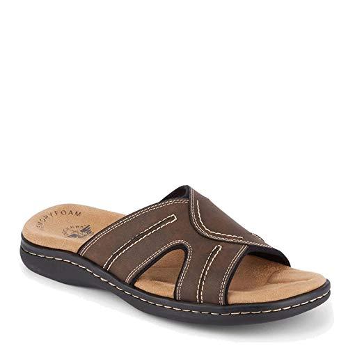Dockers Men's, Sunland Slide Sandal Dark Brown
