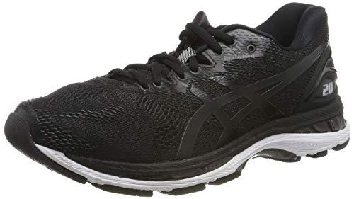 ASICS Men's Gel-Nimbus 20 Running Shoe, Black/White/Carbon, 9 2E US